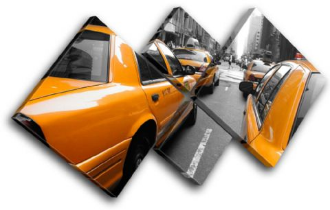 New York NYC Taxi Cab City - 13-1270(00B)-MP19-LO